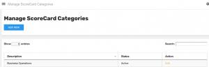 Add ScoreCard Categories, Add ScoreCard Category, Add ScoreCard Category Performance Management System
